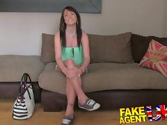 FakeAgentUK: Naive tight pussy is put to the test in fake casting