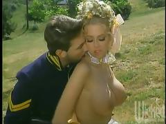 Jenna Jameson blows outdoors and gets her pussy pounded hard