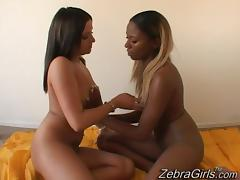 Interracial Precious and Nicole Perks! Hot Lesbian Fingering and Licking!