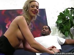 Kaylee Hilton has Huge Nipples and Talks While Jacking a Black Guy!