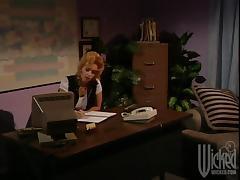 MILF Boss Fucks Her Younger Employee in Her Office