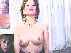 Retro milf with beautiful tits gets her pussy toyed in homemade clip porn video