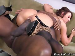 Milf has a wish to own a huge black cock