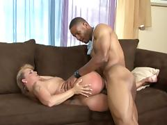Interracial fucking with awesome mommy blonde