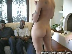 Fiona Cheeks gets her mouth and cunt pounded by four black guys
