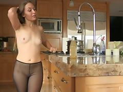 Kitchen, Amateur, Beauty, Blonde, Kitchen, Pantyhose