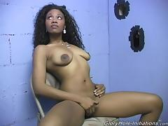 Good-looking Jackie Sucks A Big Cock From A Gloryhole