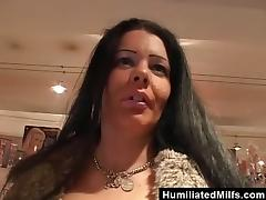 Chunky MILF Deepthroats a Cock and Swallows Hot Cum