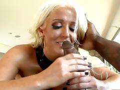 Alura Jensen is wanking Rob Piper's black dick