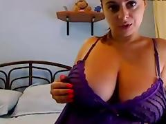 Amateur busty girls mouthwatering webcam show
