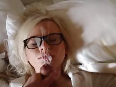 Specky Girl Receive Good Cum