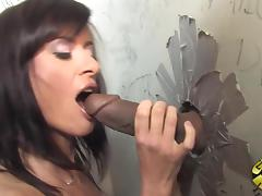 Gloryhole, Blowjob, Couple, Gloryhole, Interracial, Sucking