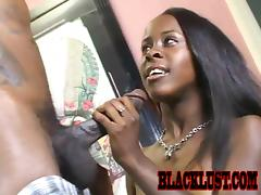 Breathtaking porn video with a hungry ebony Tiny Star