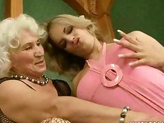 Grandma, Big Tits, Cute, Granny, Hairy, Kissing