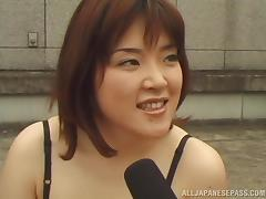Naughty Japanese AV model exposes herself at the pool