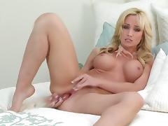 Gorgeous blonde Angela Sommers is not ashamed to touch her private porn video