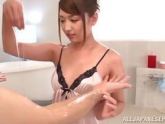 Sexy milf Miku Hasegawa enjoys younger stud
