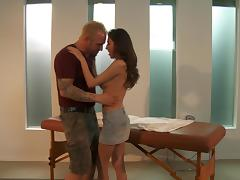 April Oneil sucks a prick and gets her pussy drilled from behind