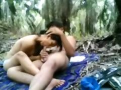 indonesian Legal Age Teenager Screwed in the jungle