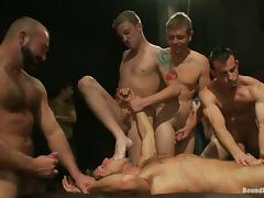 Juicy Jason Miller And Josh West Go Hardcore With A Bunch Of Friends porn video