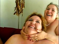 Horny lesbians fooling with their toys