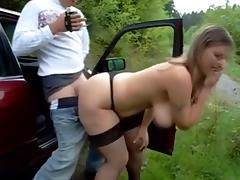 Busty Fucked outdoor