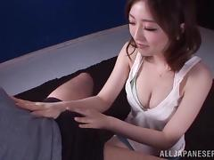 Japanese milf Ai Haneda drives a man crazy with a terrific blowjob