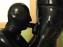 Rubber, Blowjob, Latex, Rubber, Sucking