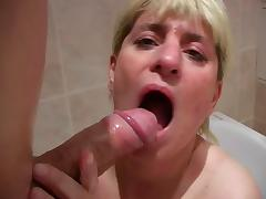 Mature with big tits sucks big cock (Camaster)