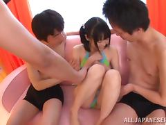Gangbang in a Japanese way with lusty Eri Hosaka