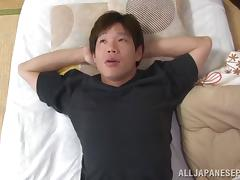 Mature Japanese seductress Yuuri Saejima fucks sexy guy