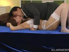 Naughty Asian hottie Risa Shiina enjoys position 69