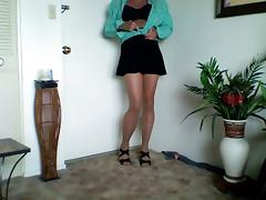 cross dressing with pantyhose
