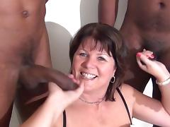 Black Granny, Black, Blowjob, British, Ebony, Interracial
