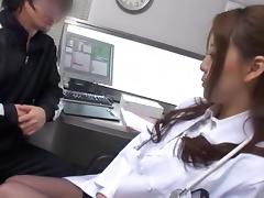 Asian AV Model is a horny mature nurse gives tit fuck