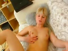 Consummate Russian Golden-Haired Legal Age Teenager Carolina Hard POV Fuck