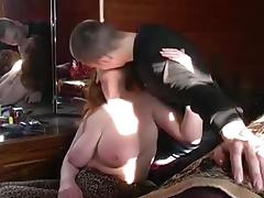 Overweight Russian Redhead with younger Paramour