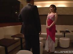 Erika Kitagawa gives hand and gets banged in all positions
