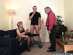 Mom and Boy, Blonde, Blowjob, Granny, Group, Horny