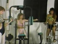 Kinky Retro Lesbians Enjoy Banging In The Gym Like Crazy