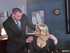 Office, Big Tits, Blonde, Boobs, Couple, Office