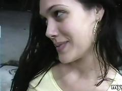 Cute Amateur in a Miniskirt Gets Fucked Doggystyle