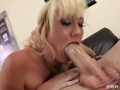 Rough anal sex with the busty blonde Alana Evans