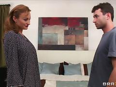 Busty Mya Mayes is fucked by a stud with a large cock