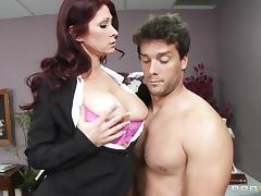 Rough sex in the office with the busty redhead milf Tiffany Mynx