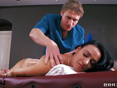 Vanilla Deville gets a massage before getting fucked