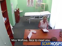 Blonde chick gets healed by doctors cock
