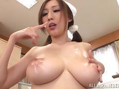 Japanese, Asian, Big Tits, Blowjob, Cum in Mouth, Cumshot