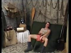 Hairy mature fucked, toyed and facialized