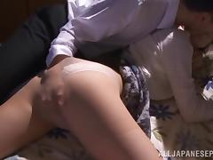 Arousing Asian redhead Kaede Fuyutsuki enjoys hardcore sex